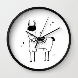 Baby Lama, kids room and nursery deco Wall Clock