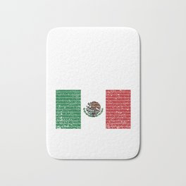 Mexican National Flag Vintage Mexico Country Gift Bath Mat