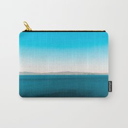 Darken blue sea with mountains Carry-All Pouch