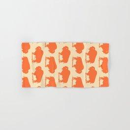 Buffalo Bison Pattern Orange and Yellow Hand & Bath Towel