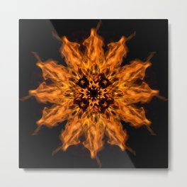 Fire Ceremony Mandala 144 Metal Print