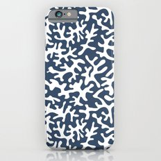 navy coral pattern iPhone 6s Slim Case