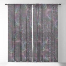 Branching Rainbow Fractal Sheer Curtain
