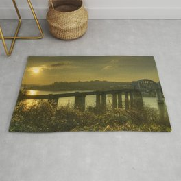 Brunel Bridge Sunset Rug