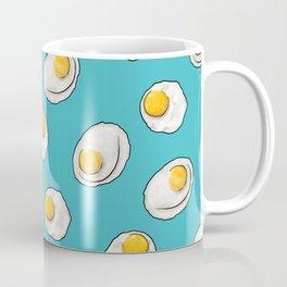 Fried egg breakfast in Aqua Coffee Mug