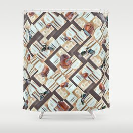 Winter Stash. Shower Curtain