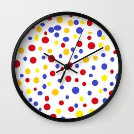 drops of colourful dots Wall Clock