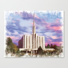 Seattle Washington LDS Temple Canvas Print