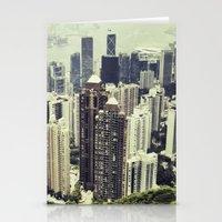 hong kong Stationery Cards featuring Hong Kong by Martin Llado