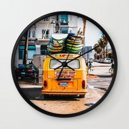 Combi van surf 3 Wall Clock