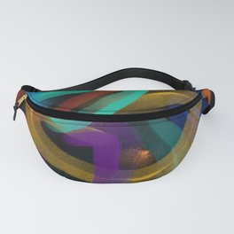 Modern Abstract 'To the Edge' Digital Painting Fanny Pack