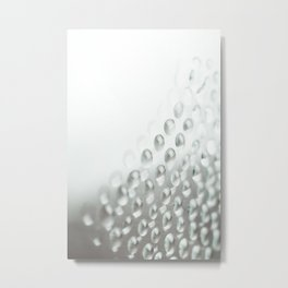Colorful liquid droplets and blurs background wallpaper Metal Print