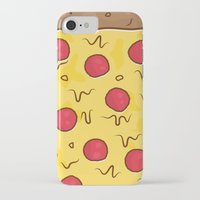 pizza iPhone & iPod Cases featuring Pizza by Michael Walchalk