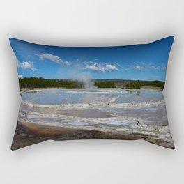 Black Basin Thermal Area Rectangular Pillow