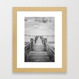 Old Dock Hyannis Port Cape Cod Ma Framed Art Print