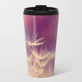 dandelion pink yellow Travel Mug