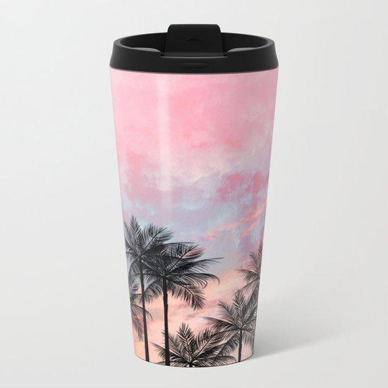 Summer Palm Tree #Society6 #Buyart #Decor Metal Travel Mug