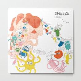 Sneeze Metal Print