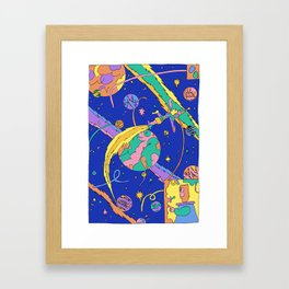 Interplanetary Travel Framed Art Print