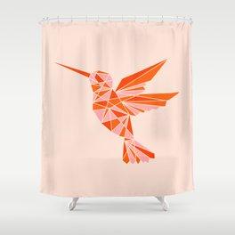 Abstraction_Hummingbird_Minimalism_001 Shower Curtain