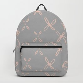 Pink & Gray Abstract Astral Pattern Backpack