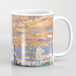 Tom Thomson - Wild Cherries, Spring - Canada, Canadian Oil Painting - Group of Seven Coffee Mug