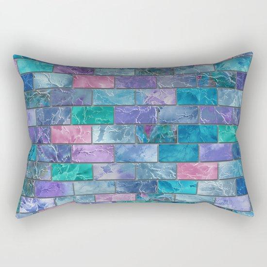 Frozen Leaves Tile Pattern 2 Rectangular Pillow