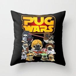 PUG WAR Throw Pillow