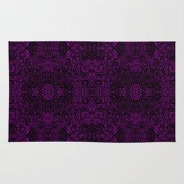 Dark Lace / purple goth Rug