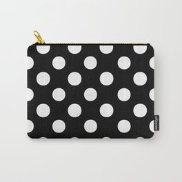 Polka Dots (White/Black) Carry-All Pouch