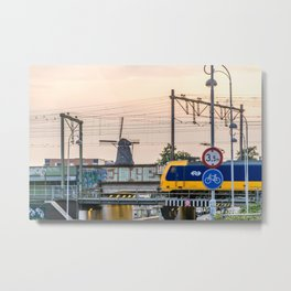 Sunrise Commute Metal Print