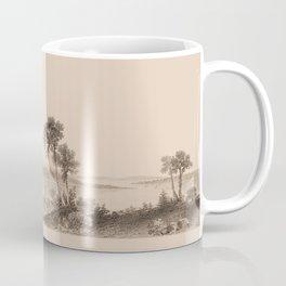 Lake Champlain 1850 (sepia) Coffee Mug