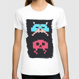 Captain America  & Red Skull space invaders T-shirt
