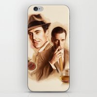 mad men iPhone & iPod Skins featuring MAD MEN DON DRAPER by TOXIC RETRO