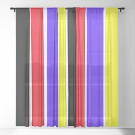 Happy on Colors Sheer Curtain