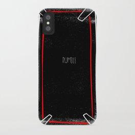 rumble iPhone Case