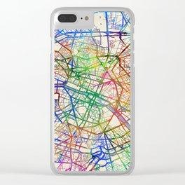 Paris France Street Map Clear iPhone Case