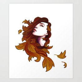 Autumnal Witch Art Print