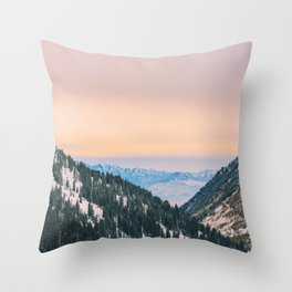Sunset Through the Valley Throw Pillow