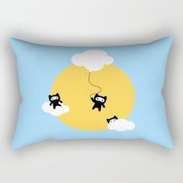Ninja cats in the sky Rectangular Pillow