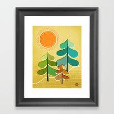 Golden Days Framed Art Print