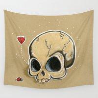 broken Wall Tapestries featuring Broken Love by Lagoonartastic