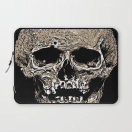 Full Skull With Rotting Flesh Vector Laptop Sleeve