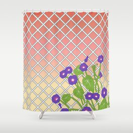 Morning Glory At Sunset Shower Curtain