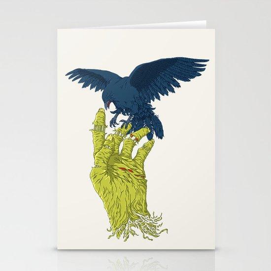 Corvo-papa-zumbi Stationery Cards