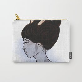 Blue Antlers Carry-All Pouch