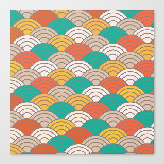 Colorful Circles X Canvas Print