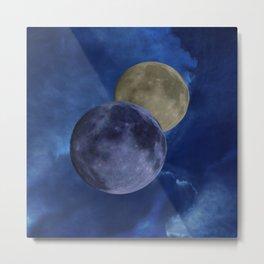Sky and moons Metal Print