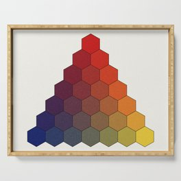 Lichtenberg-Mayer Colour Triangle (Tobiae Mayeri, Opera inedita - Vol. I, plate III), 1775, Remake Serving Tray