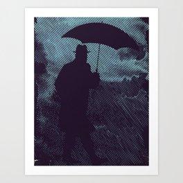 in the hardly rain Art Print